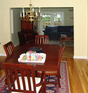new dining room and living room