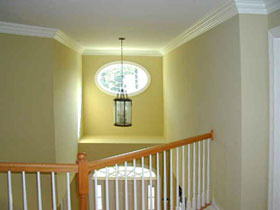 high ceilinged foyer