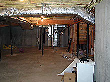 before photo of basement